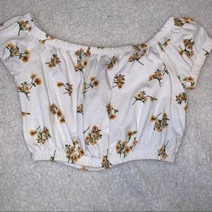 Cropped Sunflower Forever21 Top